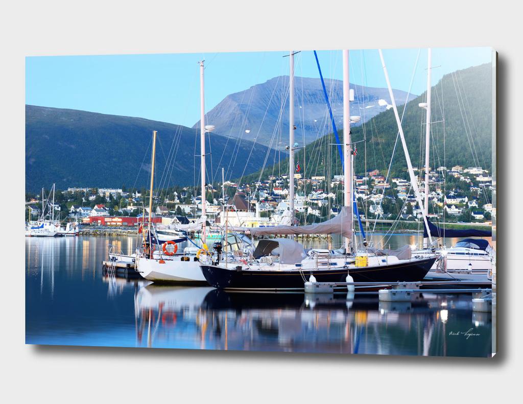 Urban yacht port