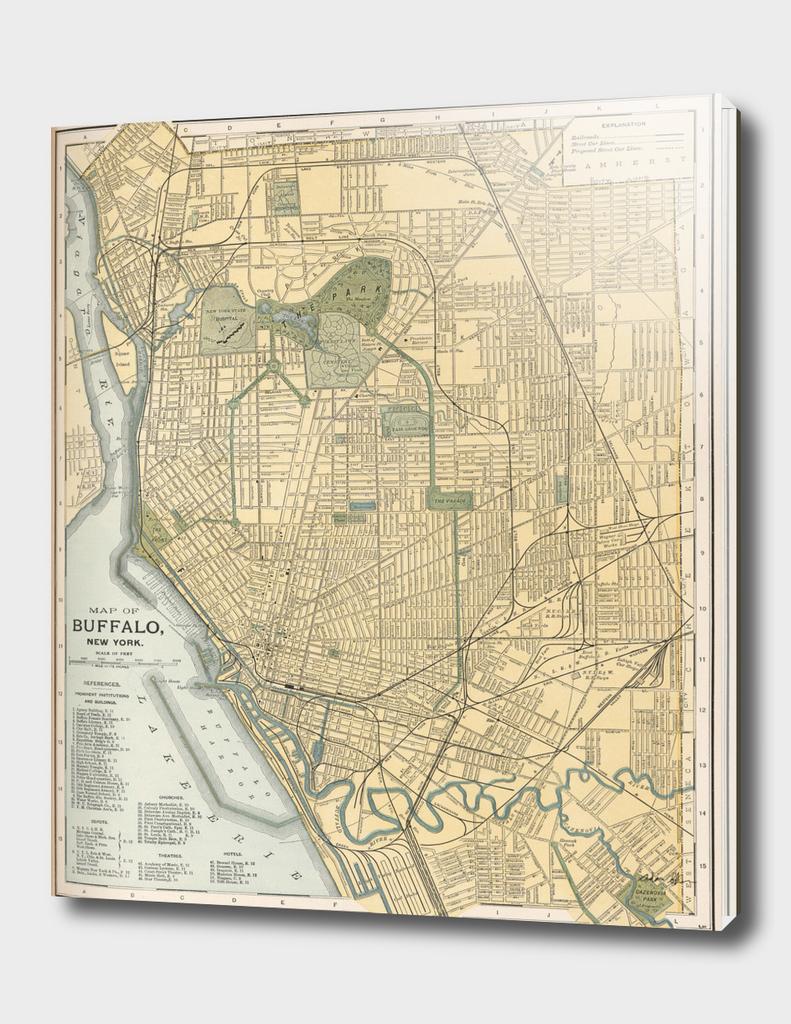 Vintage Map of Buffalo New York (1891)