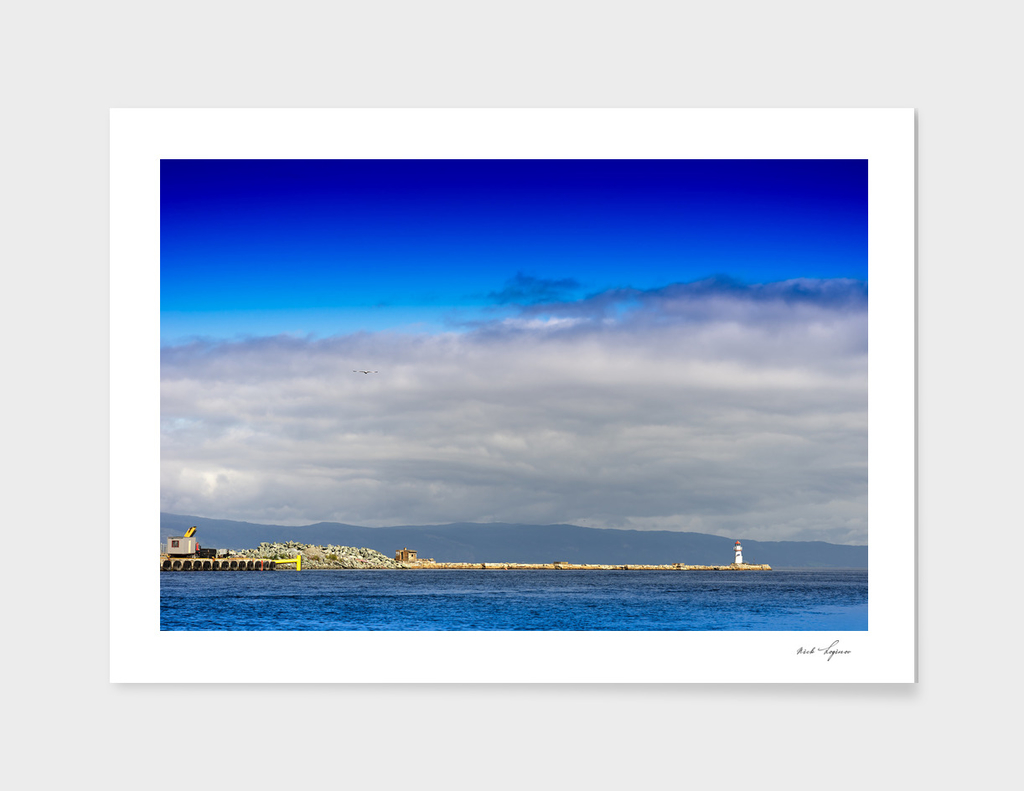 Lighthouse pier landscape