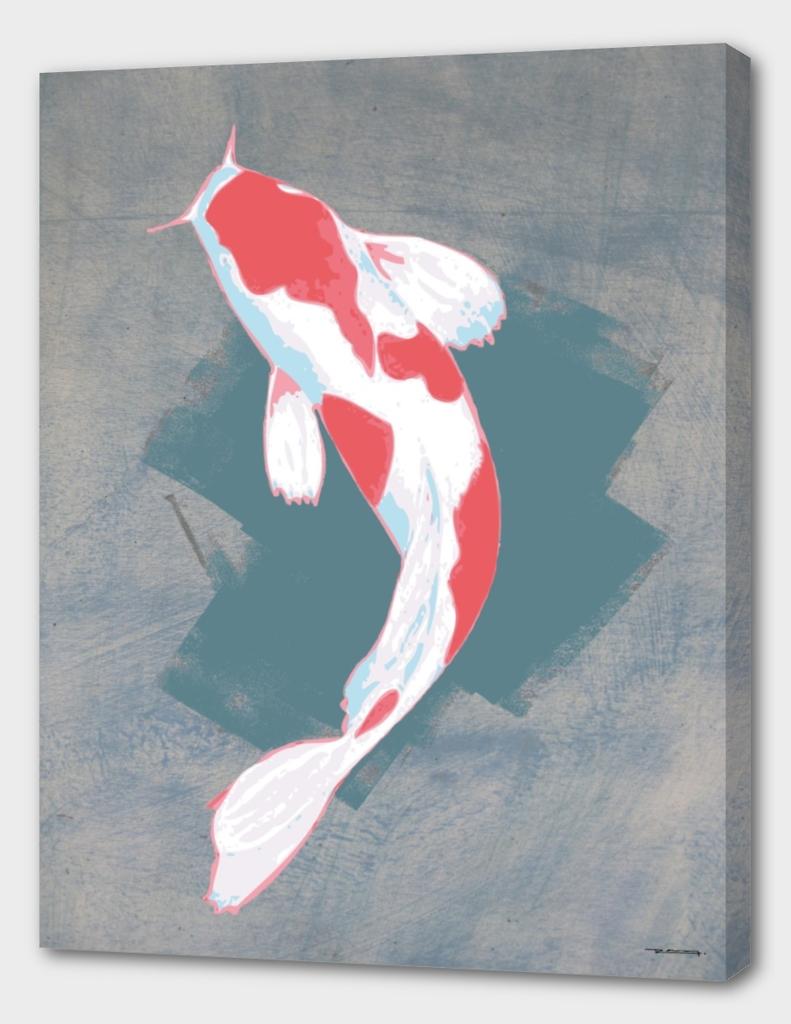 Koi fish digital illustration