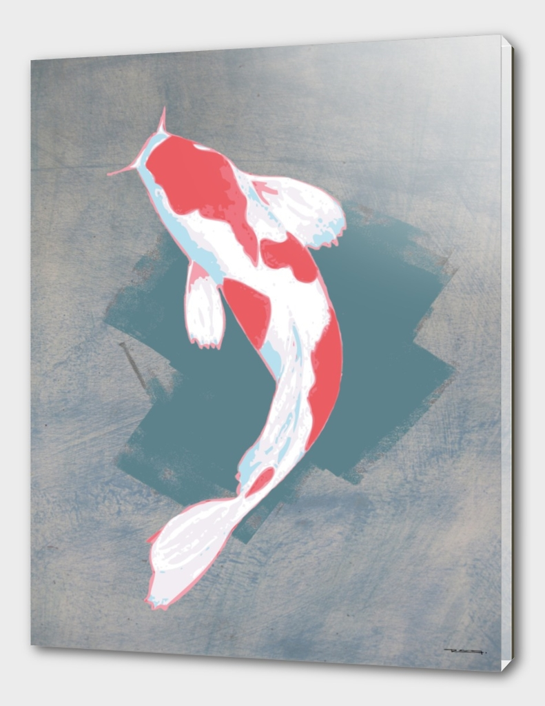 Koi fish digital illustration