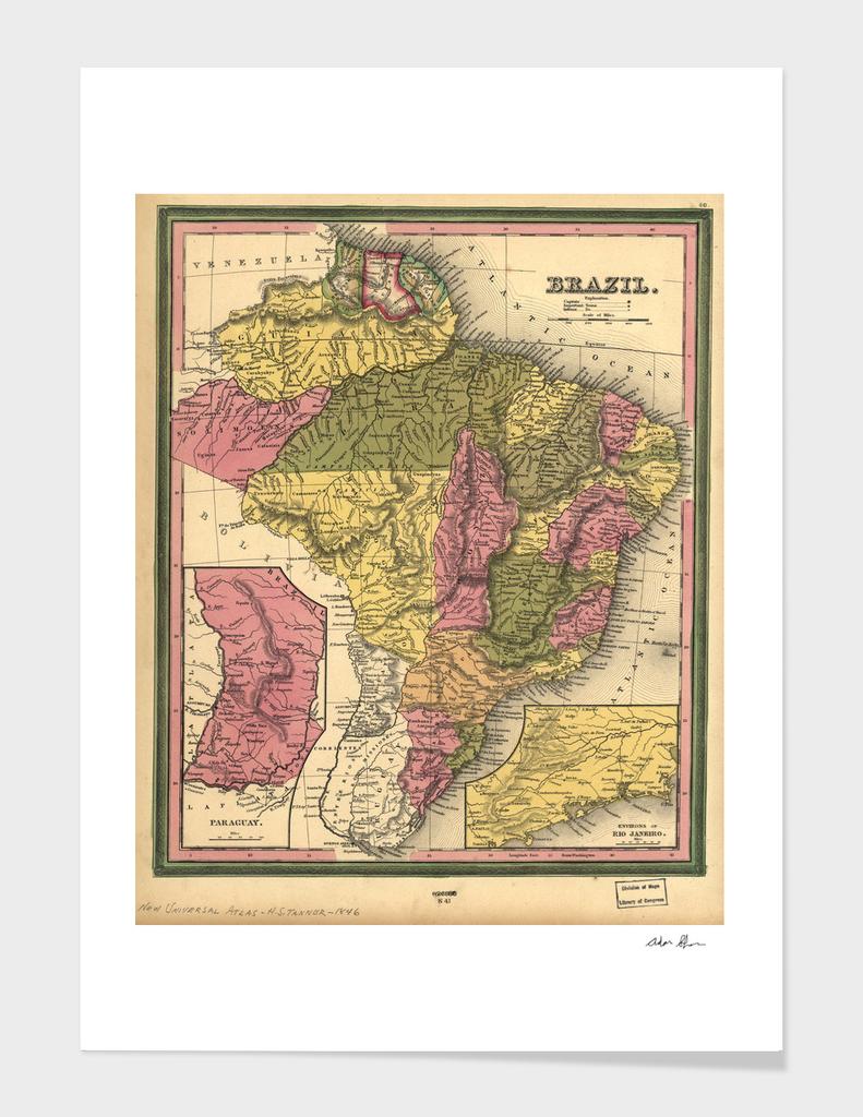 Vintage Map of Brazil (1846)