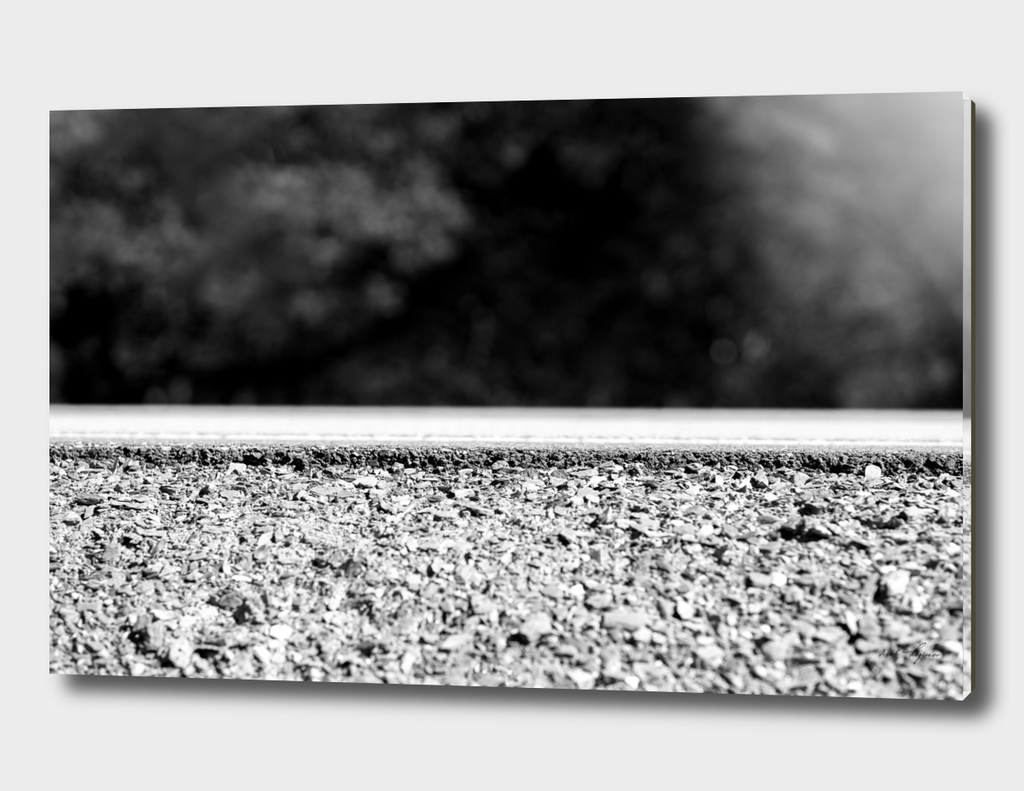 Minimalistic low angle road