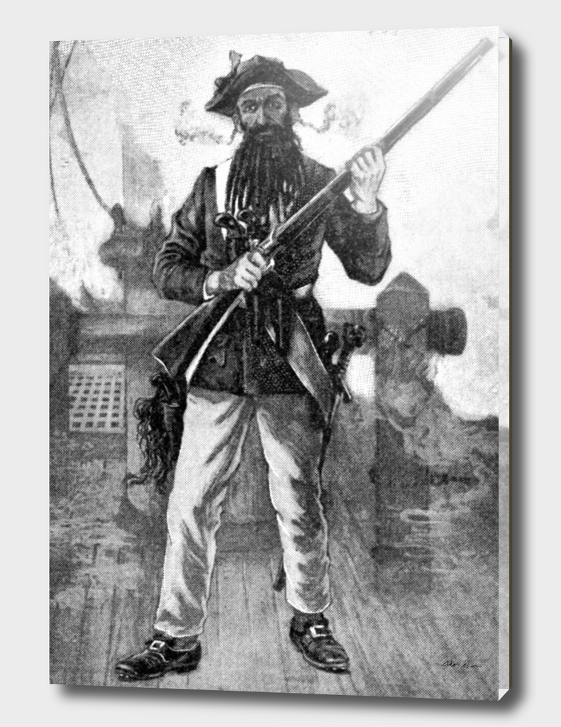 Vintage Blackbeard Illustration