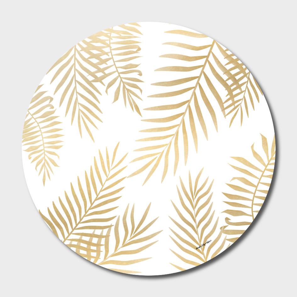 gold plam leaves