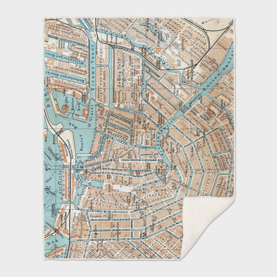 Vintage Map of Amsterdam (1905)