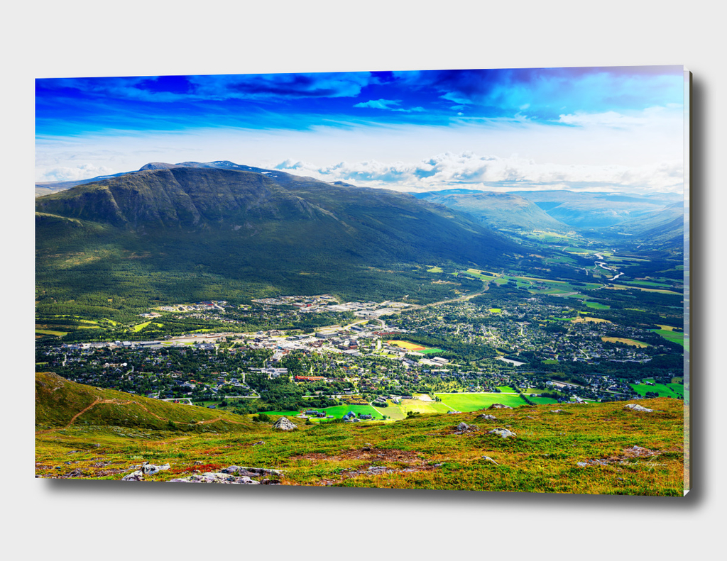 Oppdal valley: view from mountain