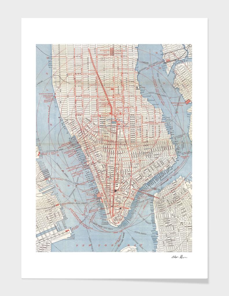 Vintage Map of Lower Manhattan (1879)