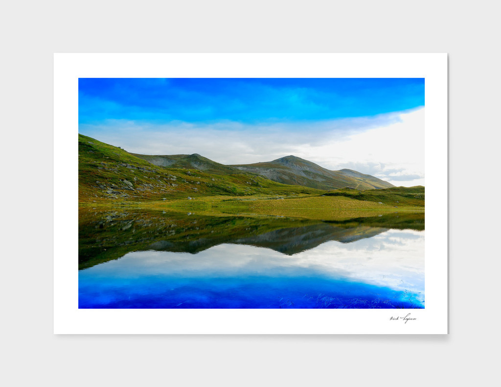 Simple hill reflections