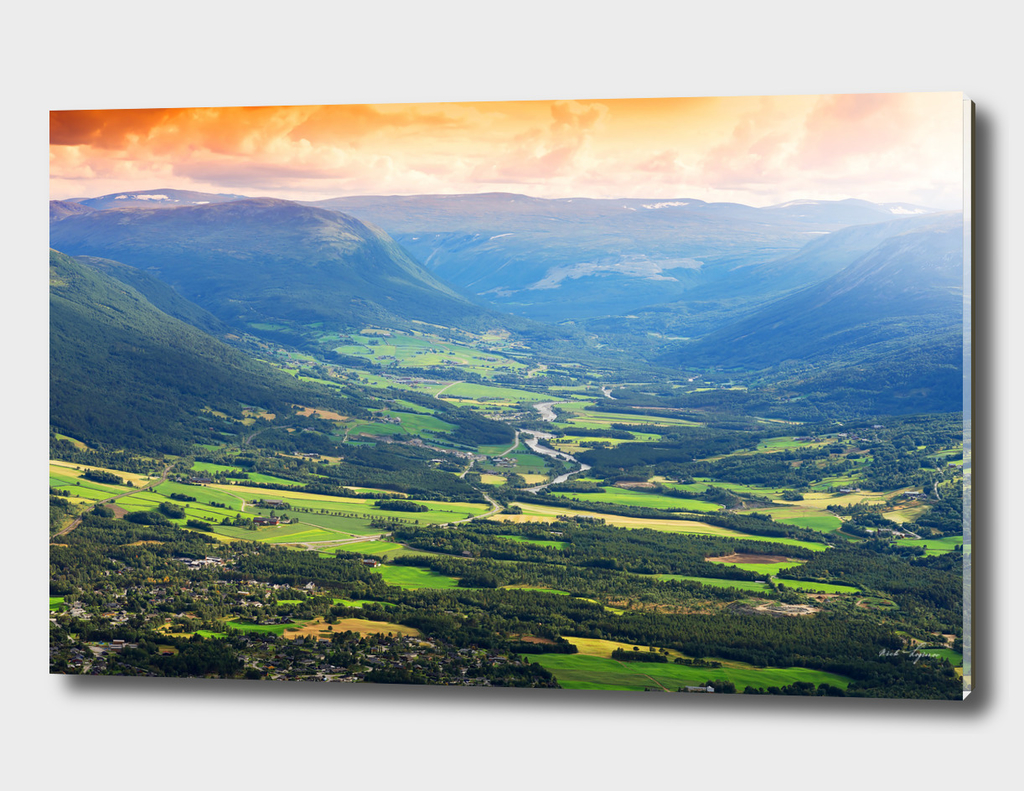 Dramatic northern valley landscape