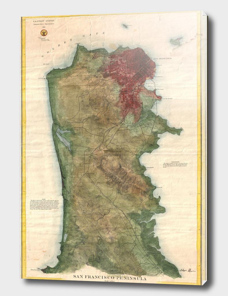 Vintage Map of San Francisco (1869)