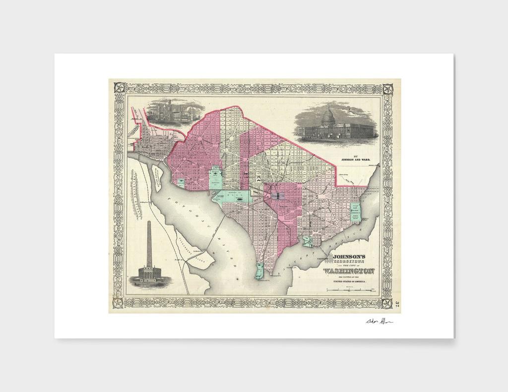 Vintage Map of Washington DC (1866)