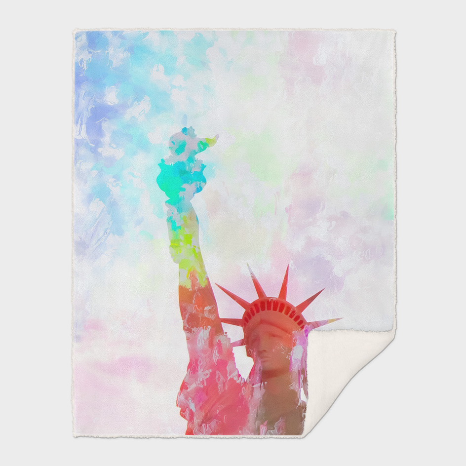 Statue of liberty, New York, USA with colorful painting