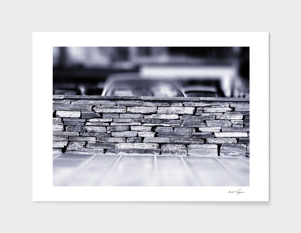 Brick street wall