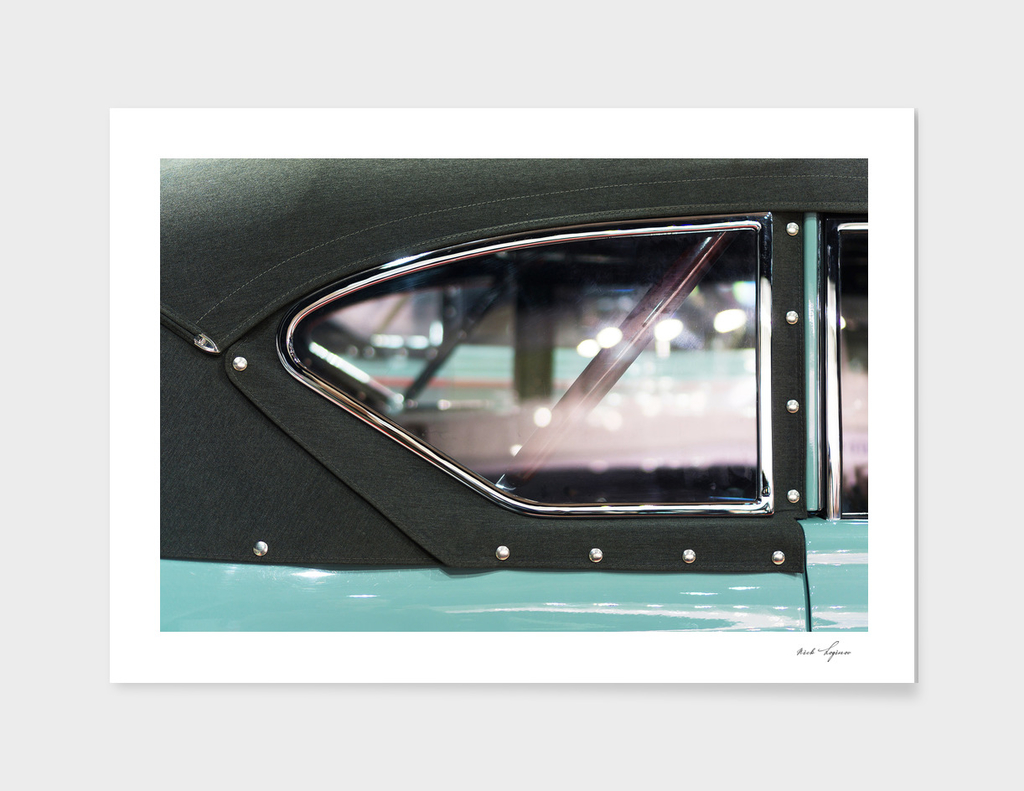 Window detail of retro car