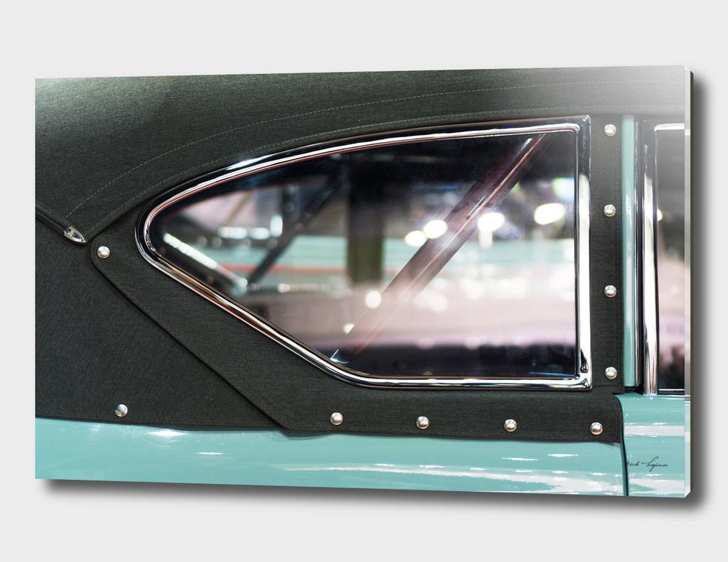 Window detail of retro car
