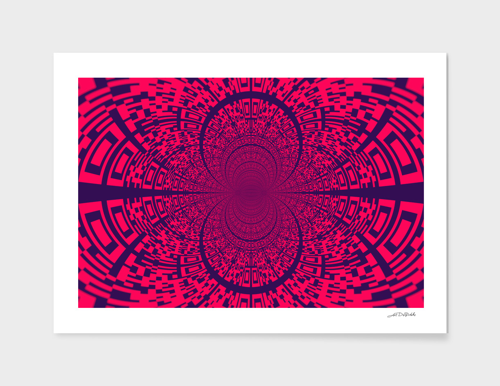 QR Code Fractal Pixels XXVII / NE