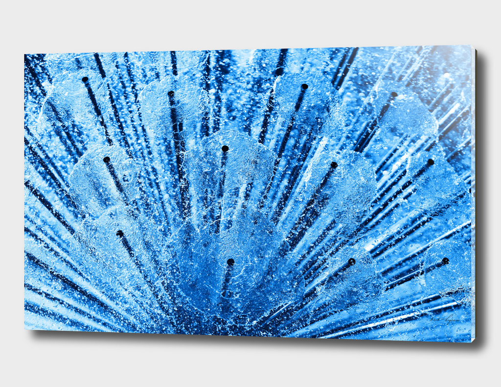 Abstract blue water sparkles