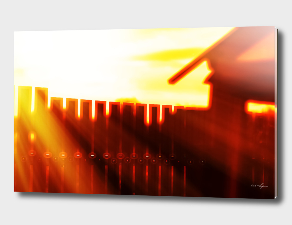 Abstract light leak over the fence