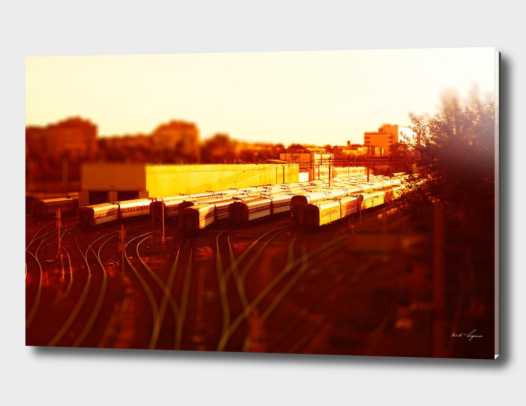 Sunset train depot