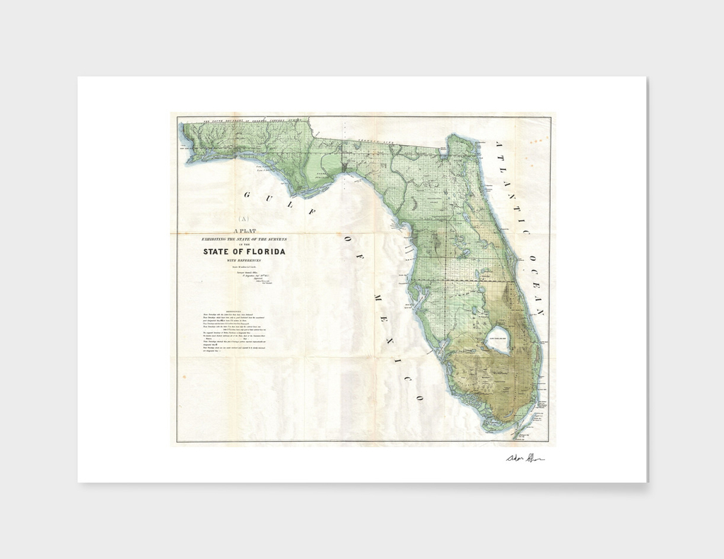 Vintage Map of Florida (1853)