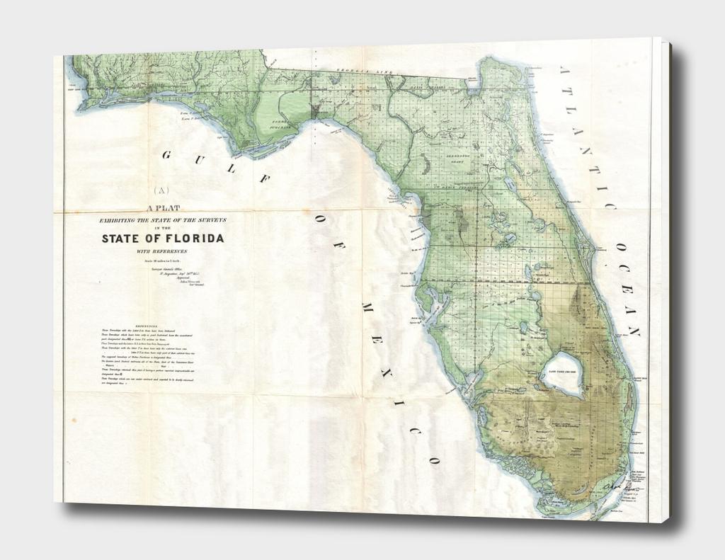 Vintage Map of Florida (1853)