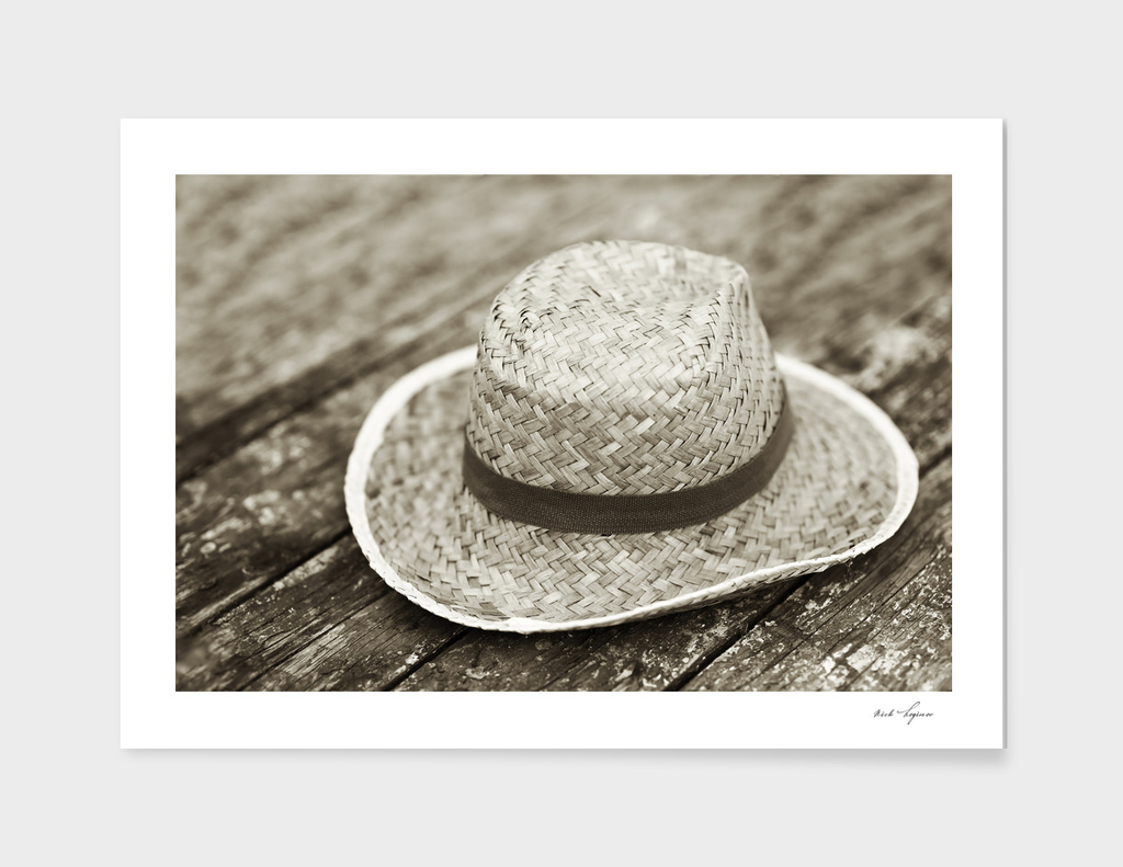 Straw vintage hat