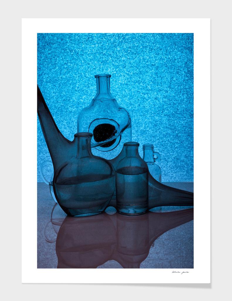 Etude in blue tones