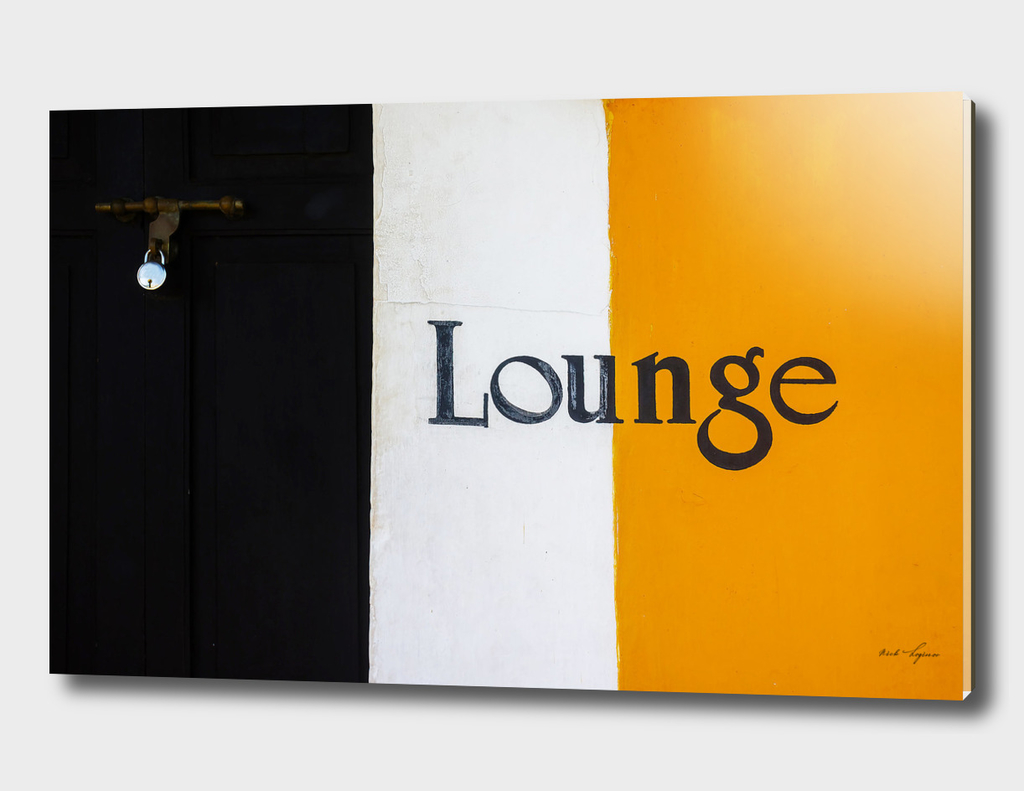 Closed lounge hotel room