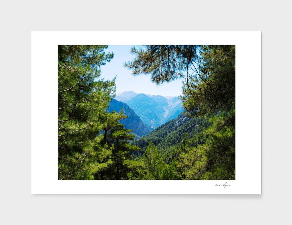 Greece mountain landscape