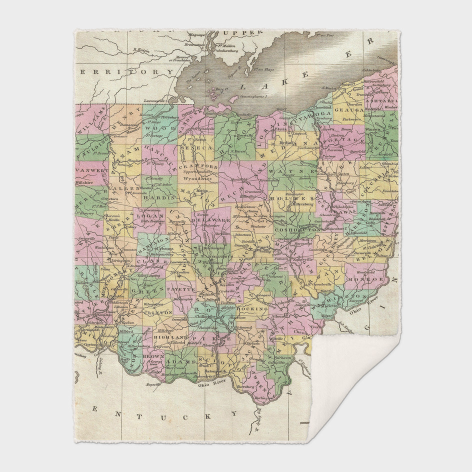 Vintage Map of Ohio (1827)