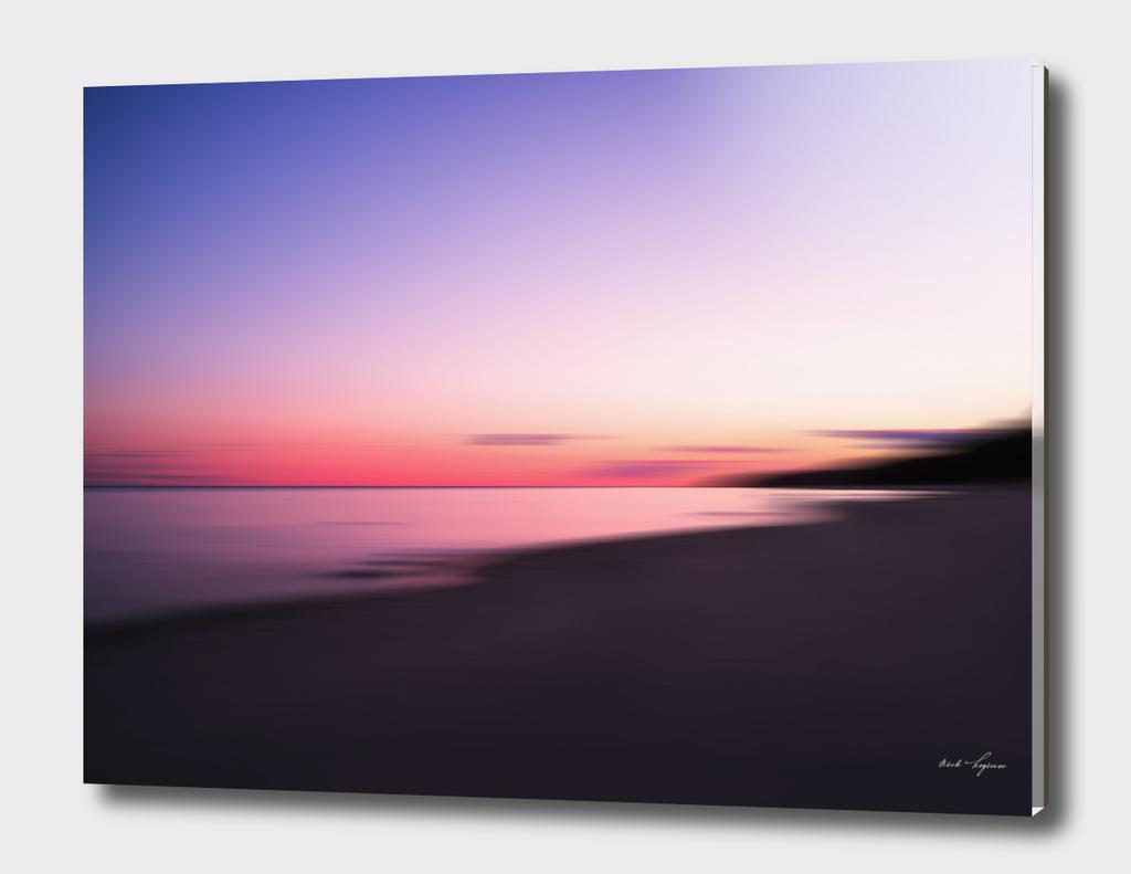 Abstract ocean sunset