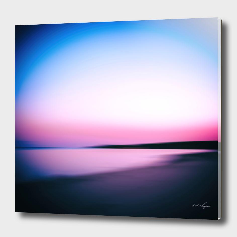 Minimal pink sunset