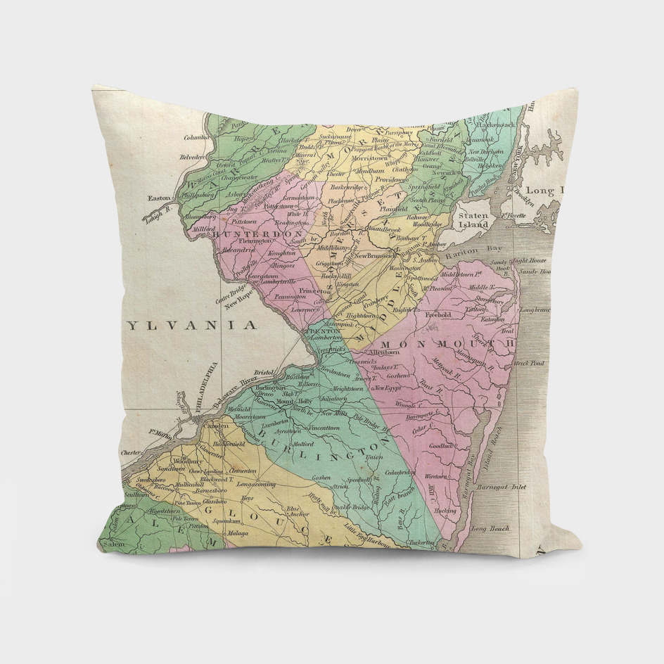 Vintage Map of Maine (1827)