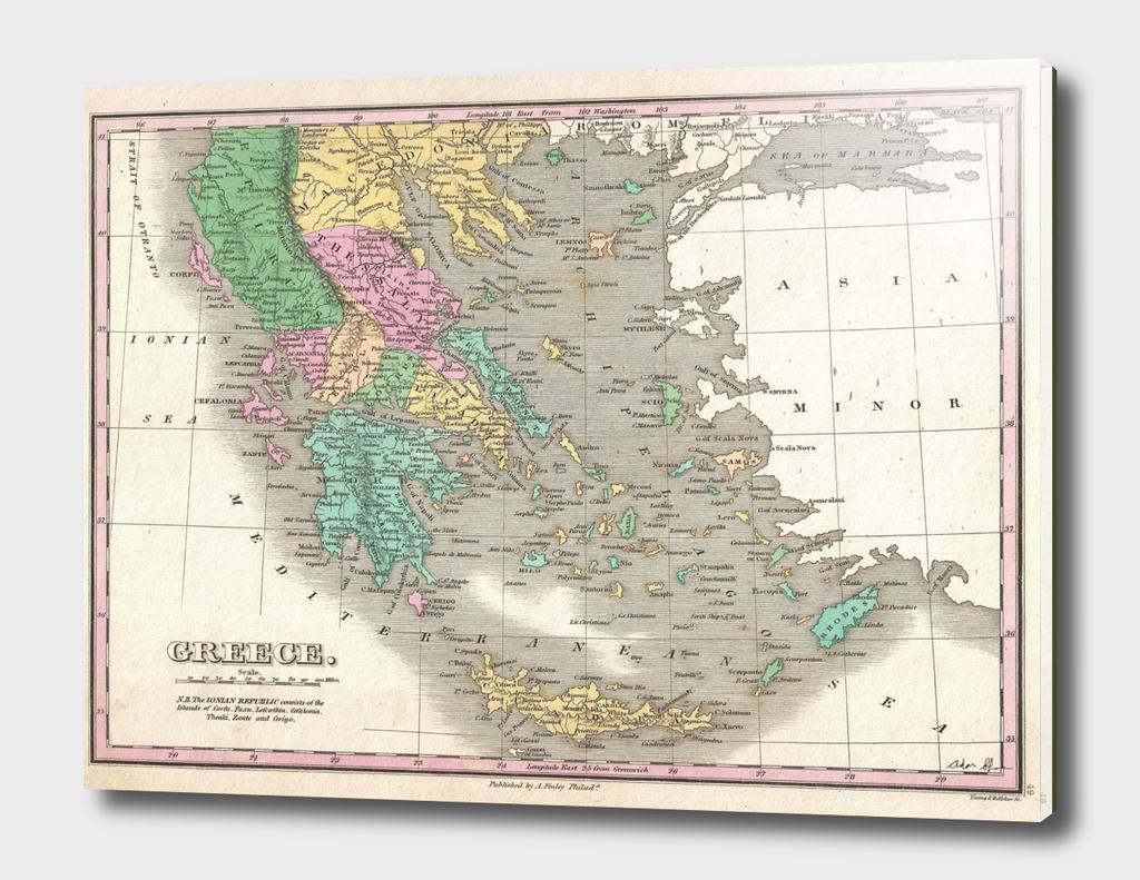 Vintage Map of Greece (1827)