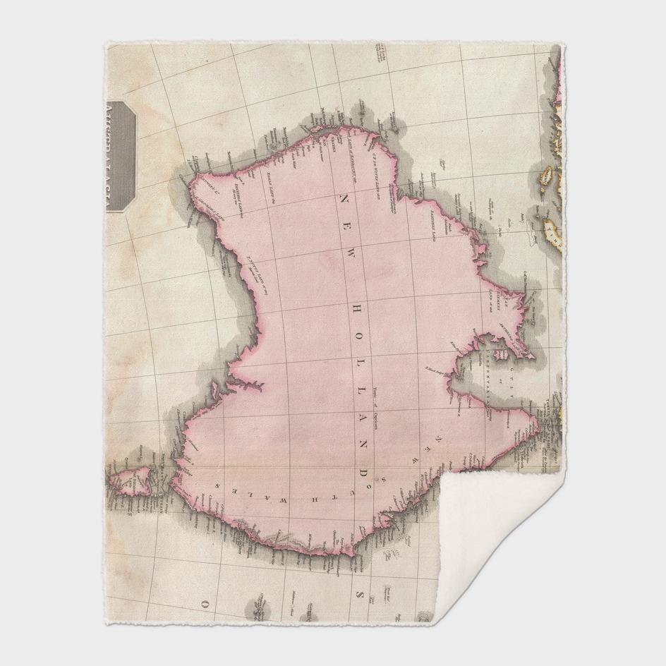 Vintage Map of Australia (1818)
