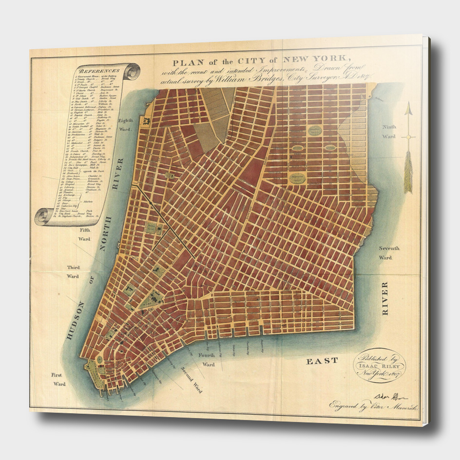 Vintage Map of New York City (1807)
