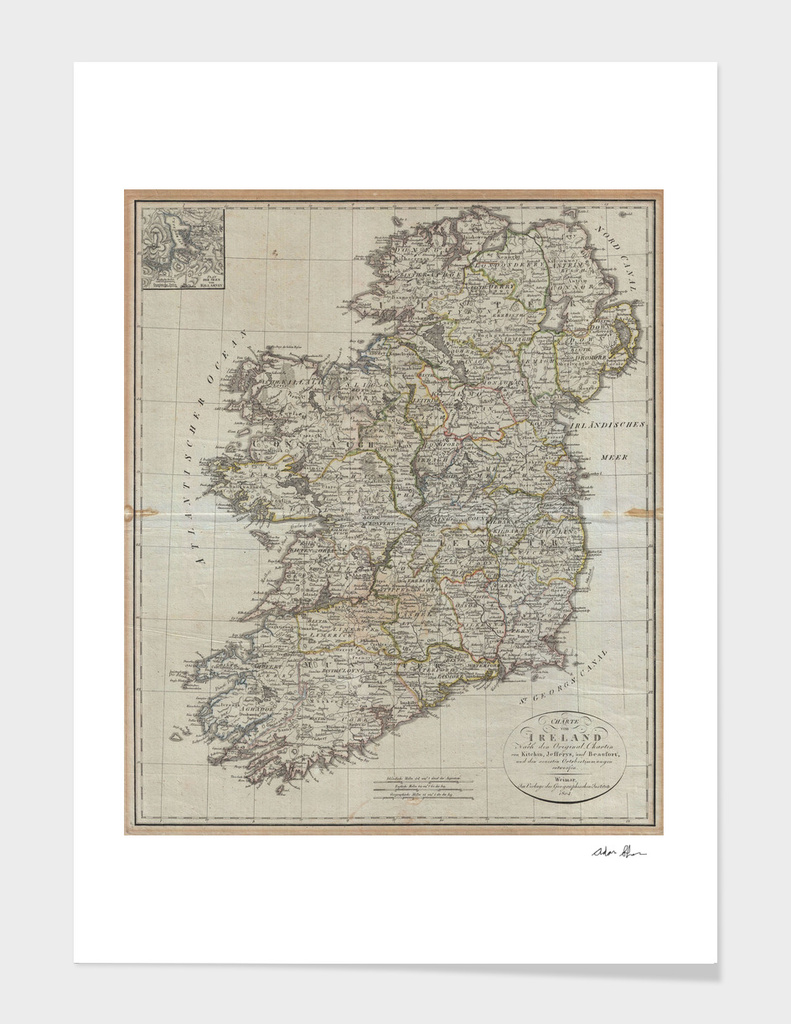 Vintage Map of Ireland (1804)
