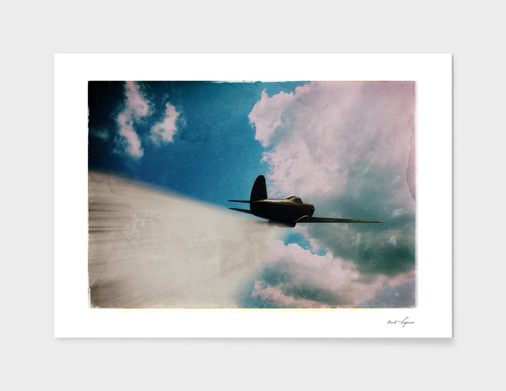 Vintage jet fighter film scan