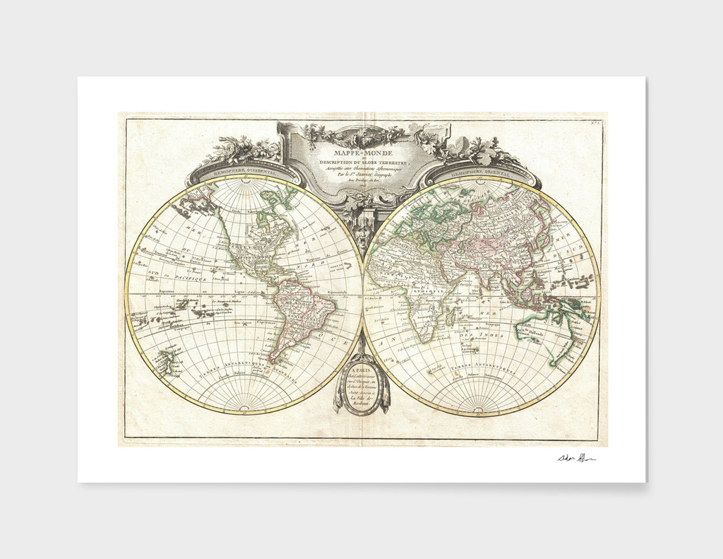 Vintage Map of The World (1775) 4
