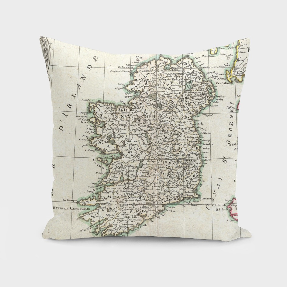 Vintage Map of Ireland (1771)