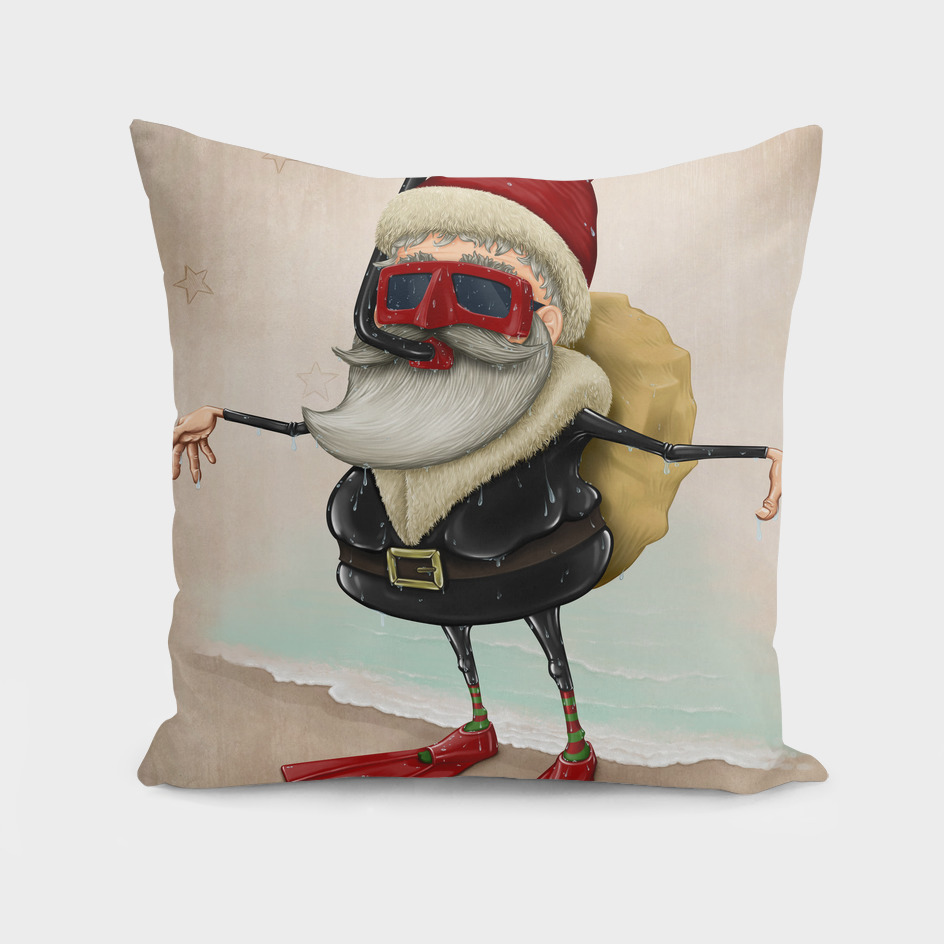 Santa Claus snorkeling