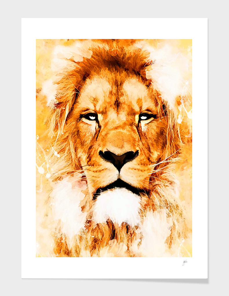 animal lion art