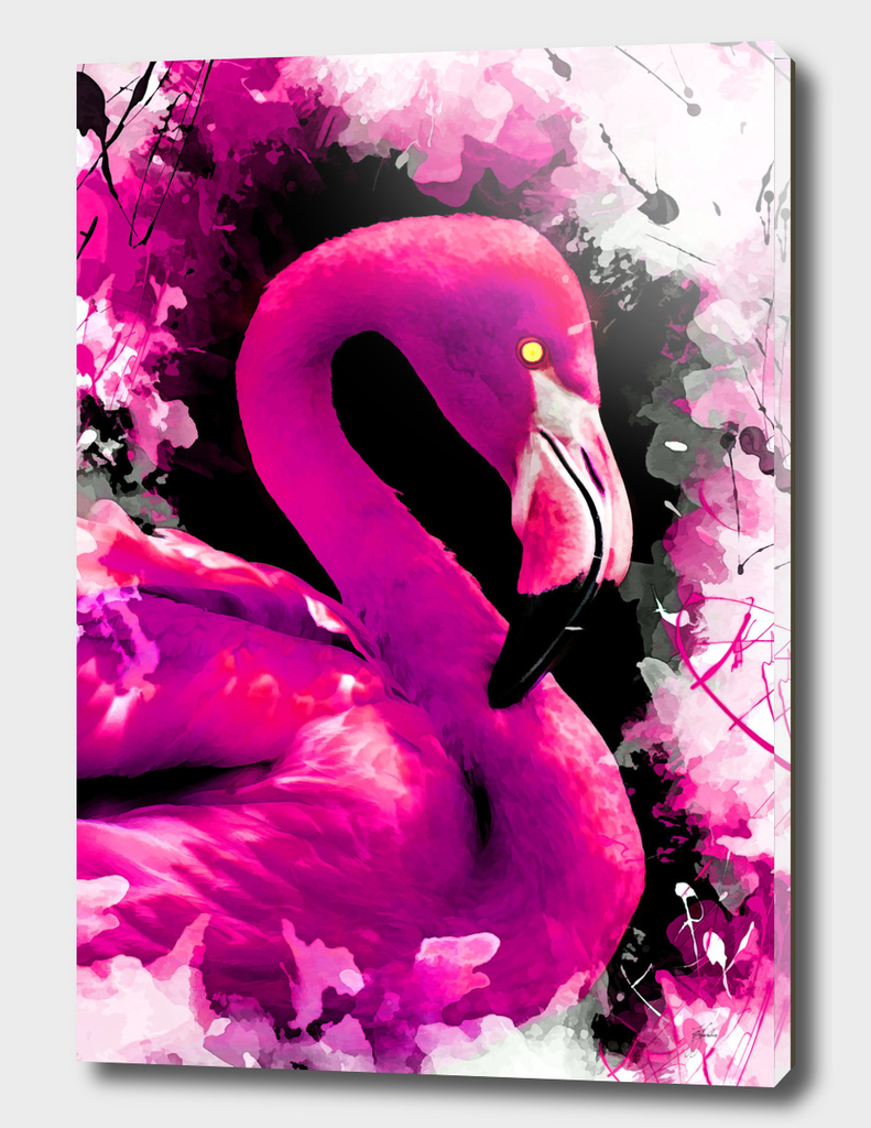 animal flamingo art
