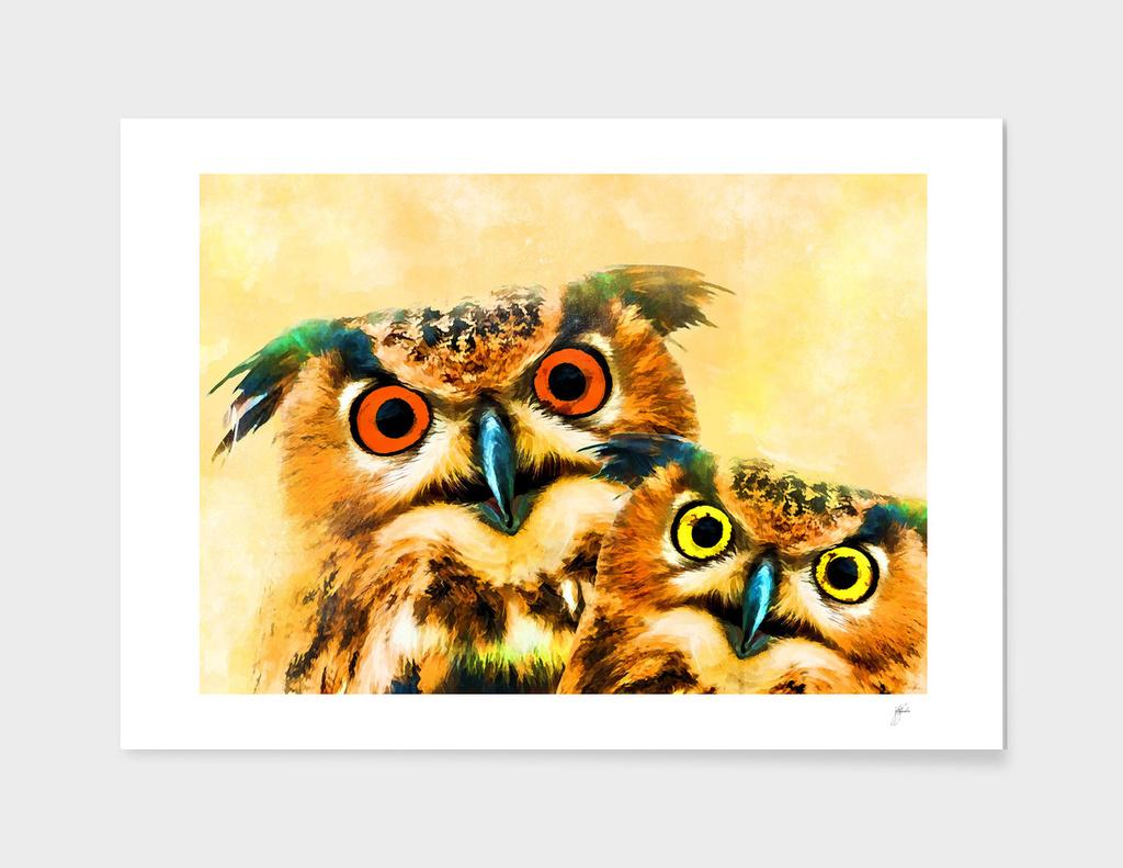 animal owl art