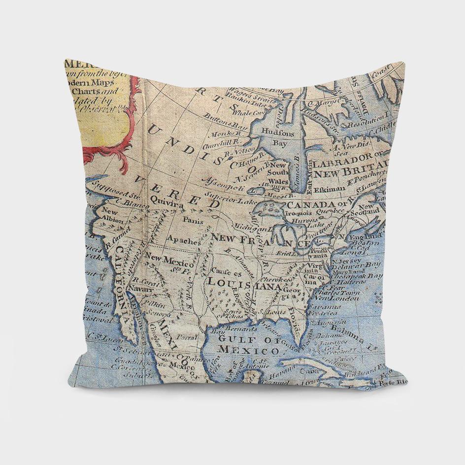 Vintage Map of North America (1747)