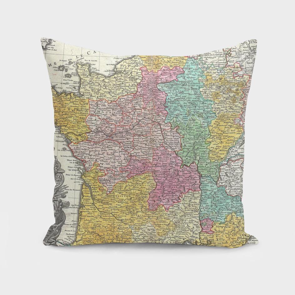 Vintage Map of France (1741)