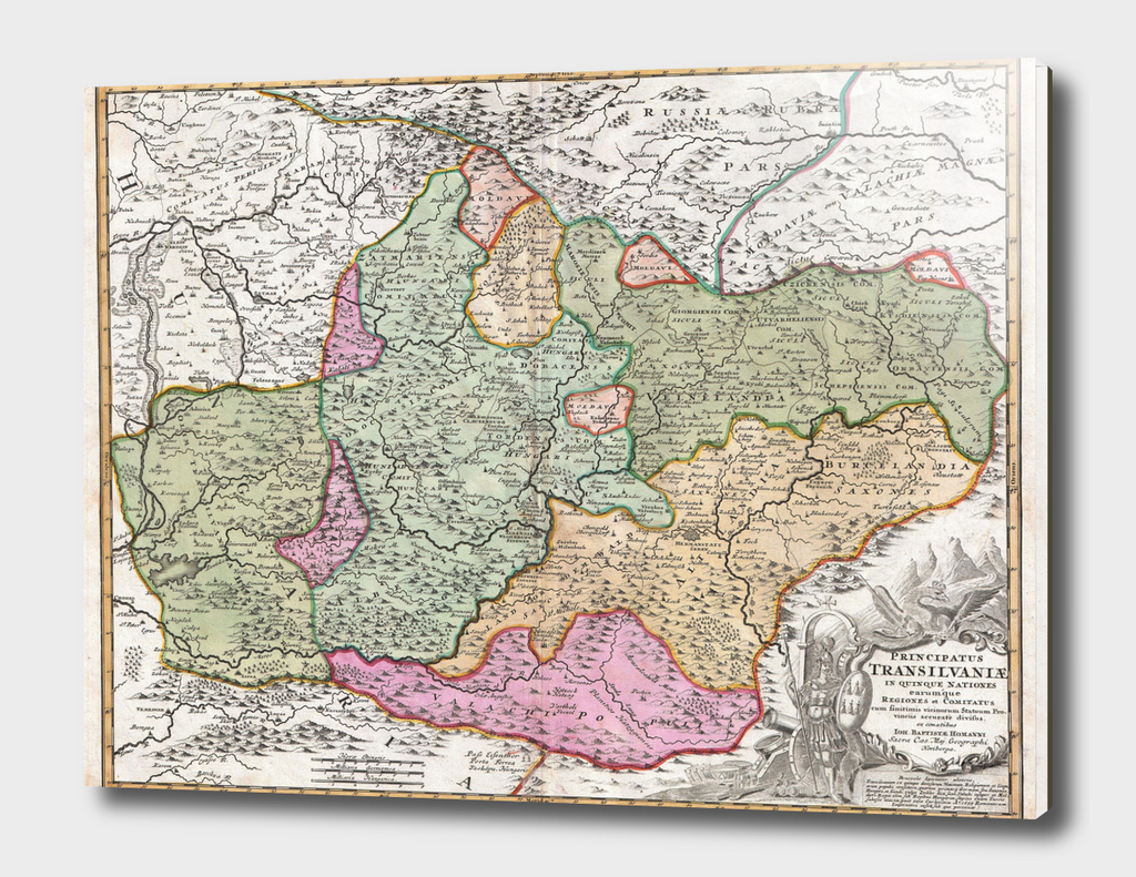 Vintage Map of Transylvania (1720)