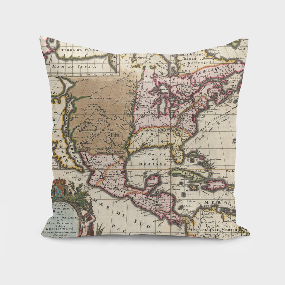 Vintage Map of the Americas (1698)