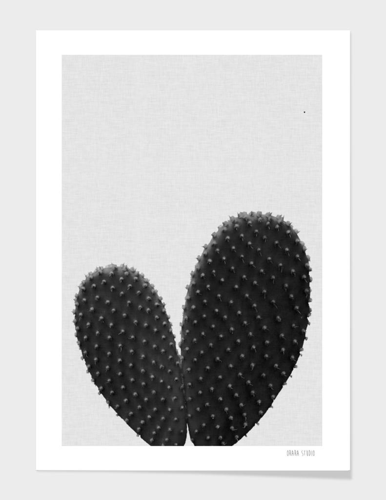 Heart Cactus BW